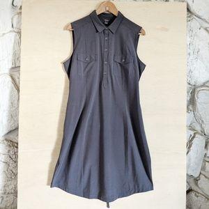 Eddie Bauer Sleeveless Gray Activewea Dress w Belt